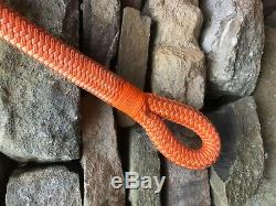 1 1/4 x 116 Feet Double Braid Kinetic Tow Rope, Extra Long Recovery Nylon Rope