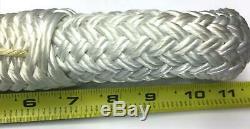 1 1/8 Inches X 100 Feet PULLING ROPE, Double Braid Nylon, 4 Eye Splice each end