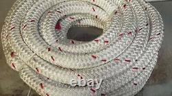 1 1/8 x 50' Double Braid Rope, Winch Rope, Rigging Line, Hoist Line, NEW