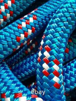 1 1 inch x 100 ft. Double BraidYacht Braid Polyester Rope. Made in the USA