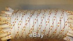 1/2 (12mm) x 89' Technora Double Braid Line, Spinnaker sheet line, Boat Rope