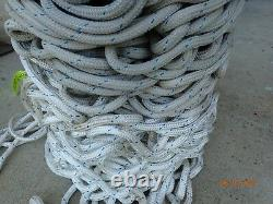 1/2 Double Braid Novabraid Novablue Premium Polyester Rope 1,128' Length