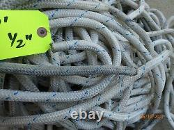 1/2 Double Braid Novabraid Novablue Premium Polyester Rope 597' Length
