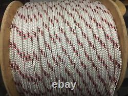 1/2 Spectra / polyester double braid rope 278 feet Red/black /white