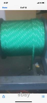 1/2 polyester sailboat rigging double braid rope 600' Green