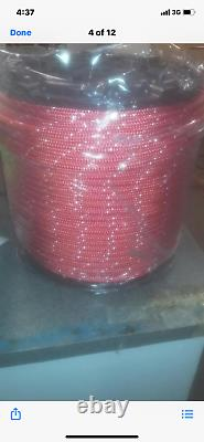 1/2 polyester sailboat rigging double braid rope 600' RED