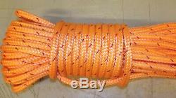 1/2 x 150' Double Braid Rope, Arborist Bull Rope, Rigging Line, Hoist Line, NEW