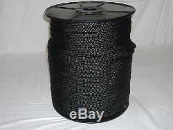 1/2 x 300 Double Braid Nylon BLACK ROPE Anchor Dock Hoist Winch Tower Lift