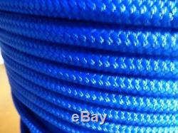 1/2 x 345 ft. Double BraidYacht Braid polyester Rope. Marine Blue
