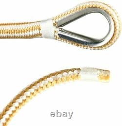1/2 x 600' Double Braid Nylon Anchor Line Dock Line Rope with Stainless Thimble