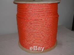 1/2 x 600 Double Braid Orange Nylon rope Anchor Dock Hoist Winch Tower Lift