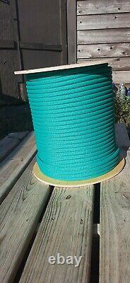 1/2 x 600 ft. Premium Double Braid-Yacht Braid Polyester Rope. Turquoise