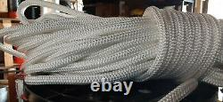 1/2 x 600 ft. Premium Double Braid-Yacht Braid Polyester Rope. White