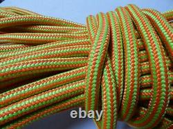 1/2x 235 ft. Tight Double Braid Polyester Arborist / Rigging Rope Neon/Lime