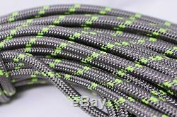 1/2x200 Feet Double Braid Polyester Arborist Rope Platinum/Lime