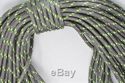 1/2x200 Feet Double Braid Polyester Arborist Rope Platinum/Lime