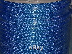 1/2x300 feet double braid blue nylon rope anchor dock lines