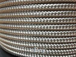 1/4 x 1000 ft. Double Braid-Yacht Braid polyester rope. Platinum