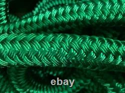 1 one inch Arborist double braid rope 300 solid green