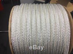 1 one inch Polyester double braid rope 300 white