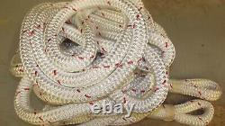 1 x 65' Double Braid Polyester Winch Rope, Hoist Line, Rigging Line, Mooring