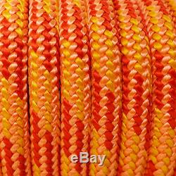 100ft 30kN Double Braided Rope 7/16 Industrial Hauling Arborist Rigging Line