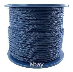 10mm Navy Blue Double Braid Polyester Rope x 65 Metres, Quality Docklines Marine