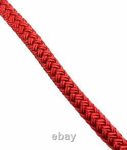 10mm Red Quality Double Braid on Braid Polyester Mooring Yacht Marine Rope