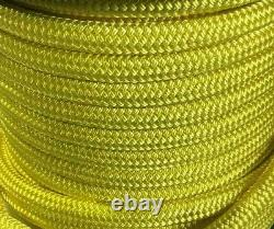 10mm x 100m Polyester Rope Double Braid Arborist Lowering Hi Visibility Yacht
