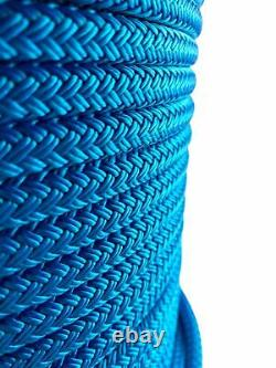12mm Blue Double Braid Polyester Rope x 100 Metres, Quality Dockline Marine