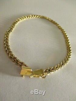 14K GOLD Bracelet Vintage Double Rope Braided stamped 14K Lovely Piece 5 Grams