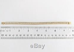 14K Yellow Gold CZ Cubic Zirconia Double Rope Chain Bracelet 7.5 Box Clasp