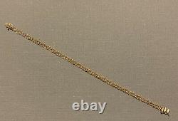 14k Yellow Gold Double Rope Twist Bracelet 7 4.82g