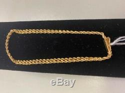 14kt 7 Yellow Gold Double Twist Rope Bracelet