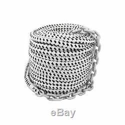 150'x1/2 Double Braided Nylon Rope & 15'x1/4 HT G4 Chain, Windlass, Rode