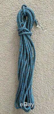 16.5m x 8mm Blue/Charcoal Blend Dyneema Double Braid Yacht Skiff Sheet Boat Rope