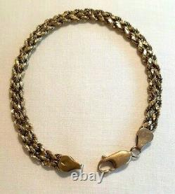 18 k Yellow Gold Double Rope Twist Chain Bracelet