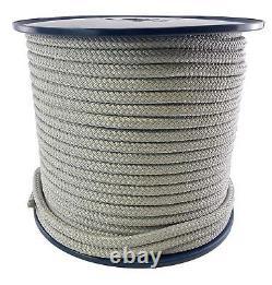 18mm Grey Quality Double Braid on Braid Polyester Mooring Marine Rope