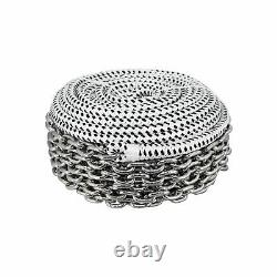 200'x1/2 Double Braid Rope & 15'x1/4 HT G4 Stainless Chain, Windlass, Rode