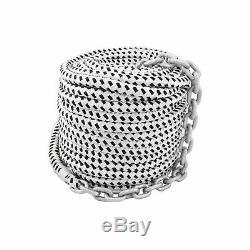 200'x1/2 Double Braided Nylon Rope & 15'x1/4 HT G4 Chain, Windlass, Rode