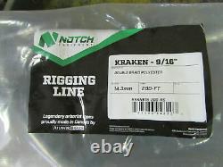 200ft X 9/16 Notch Kraken Monster Double Braid Rigging Rope 13,300lb Arborist