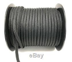 20mm Black Polyester x 50 Metre Reel, Braid on Braid Marine Double Braid Rope