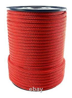 20mm Red Quality Double Braid on Braid Polyester Mooring Marine Rope