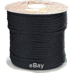 24mm x 100Mtr Polyester Rope 16 Strand Double Braid Black (Reel)
