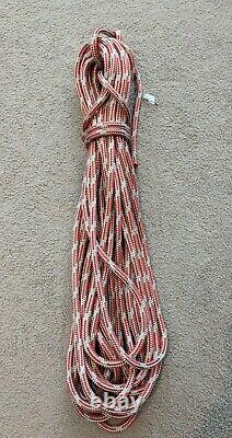 27.5m x 12mm Silver / Red Dyneema Double Braid Yacht Sheet Marine Spectra Rope