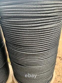 3/16 x 1220 ft. Double Braid Polyester Rope. Black. Miami. Custom Listing