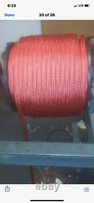 3/ 4 Arborists double braid rope 300 feet RED