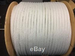 3/4 arborist double braid rope white or white with red flecks 300 feet