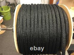 3/ 4 nylon double braid rope 300 feet solid black