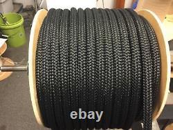 3/ 4 nylon double braid rope 600 feet solid black